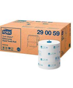 Бумажное полотенце белое TORK MATIC  UNIVERSAL  1 сл, 280м,  466-1142-1400л  290059 6/1