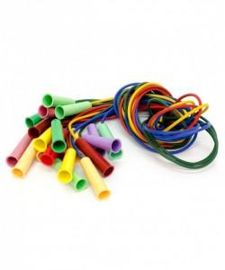 Скакалка резиновая с пластмассовой ручкой, цвет в асс., 2м (только по 10 шт.)
