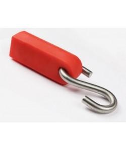 S-образный крюк с креплением троса в силиконовом чехле