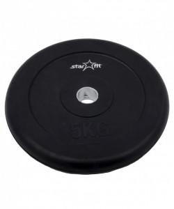 Диск обрезиненный BB-202, d=26 мм, черный, 5 кг