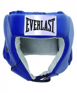 Шлем открытый EVERLAST USA Boxing 610406U, L, кожа, синий