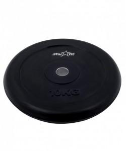 Диск обрезиненный BB-202, d=26 мм, черный, 10 кг