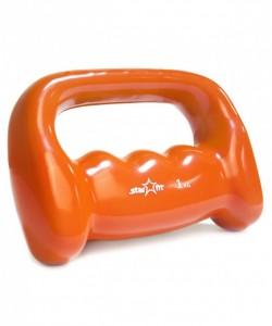 Гантель виниловая DB-103 1 кг, оранжевая