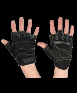 Перчатки для фитнеса STARFIT SU-116, черные/серые
