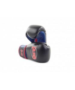 Перчатки бокс.(иск.кожа) Jabb JE-2015 черный/синий 6ун.