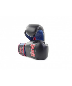 Перчатки бокс.(иск.кожа) Jabb JE-2015 черный/синий 8ун.