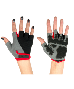 Перчатки для фитнеса STARFIT SU-117, черные/серые/красные