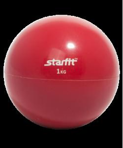 Медбол STARFIT GB-703, 1 кг, красный