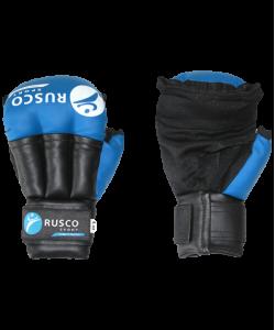 Перчатки для смешанных единоборств RUSCO, к/з, синие