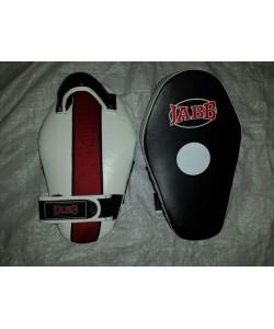 Лапа бокс.(пара) Jabb JE-2198 нат.кожа черный/белый N/S