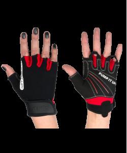 Перчатки для фитнеса STARFIT SU-119, черные/красные