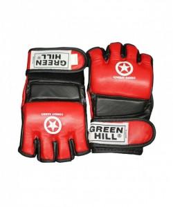 Перчатки для смешанных единоборств GREEN HILL Combat Sambo MMR-0027, к/з, красные