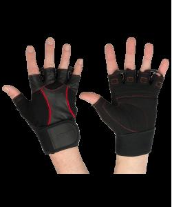 Перчатки атлетические STARFIT SU-120, чёрные