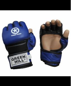 Перчатки для смешанных единоборств GREEN HILL Combat Sambo MMR-0027CS, к/з, синие