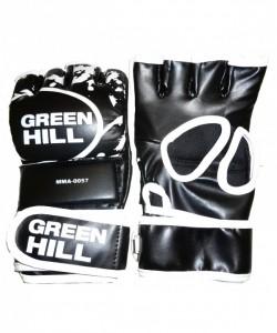 Перчатки для смешанных единоборств GREEN HILL MMA-0057, к/з, черные