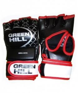 Перчатки для смешанных единоборств GREEN HILL MMA-0056, к/з, черные