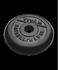 Диск обрезиненный, d=51 мм, черный, 1,25 кг