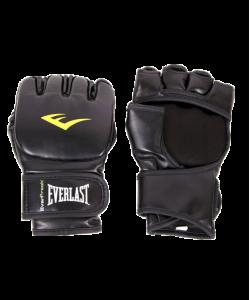 Перчатки для смешанных единоборств EVERLAST Martial Arts Grappling 7560LXLU, к/з, черные