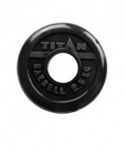 Диск обрезиненный, d=51 мм, черный, 2.5 кг