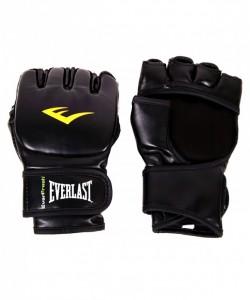 Перчатки для смешанных единоборств EVERLAST Martial Arts Grappling 7560SMU, к/з, черные