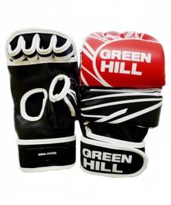 Перчатки для смешанных единоборств GREEN HILL MMA-0055R, к/з, красные/черные/белые
