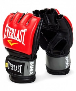 Перчатки для смешанных единоборств EVERLAST Pro Style Grappling 7778RLXLU, к/з, красные