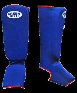 Защита голень-стопа GREEN HILL SIC-6131, х/б, синяя