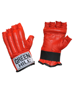 Перчатки снарядные GREEN HILL ROYAL CMR-2076, шингарды, кожа, красные