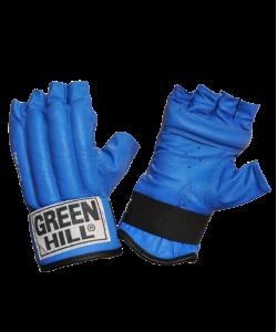Перчатки снарядные GREEN HILL ROYAL CMR-2076, шингарды, кожа, синие