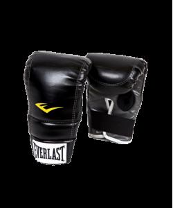 Перчатки снарядные EVERLAST 4315SMU, к/з, черные/белые/желтые