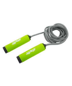 Скакалка RP-105 со вспененной ручкой, зеленая/черная