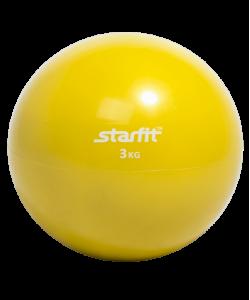 Медбол STARFIT GB-703, 3 кг, желтый