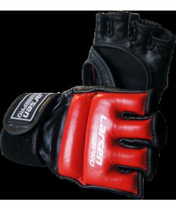 Перчатки для смешан. единоборств (нат.кожа) Larsen Pro JE-2329T черный/красный
