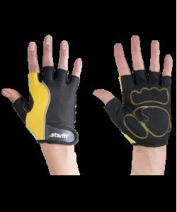 Перчатки для фитнеса STARFIT SU-108, желтые/черные