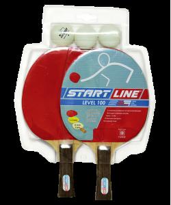 Набор для настольного тенниса Level 100, 2 ракетки и 3 мяча, 61200