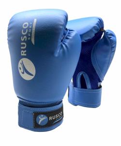 Перчатки боксерские, 8oz, к/з, синие