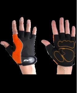 Перчатки для фитнеса STARFIT SU-108, оранжевые/черные