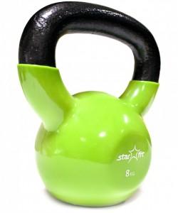 Гиря виниловая STARFIT DB-401, зеленая, 8 кг