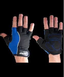 Перчатки для фитнеса STARFIT SU-108, синие/черные