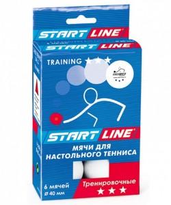 Мяч для настольного тенниса 3* Training, белый, 6 шт.