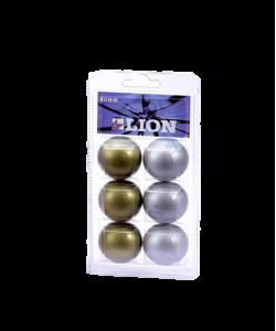 Мяч для настольного тенниса Clossy металлик, 2 цвета, 6 шт.