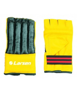 Шингарты (иск.кожа) Larsen TC-0926 черный/желтый