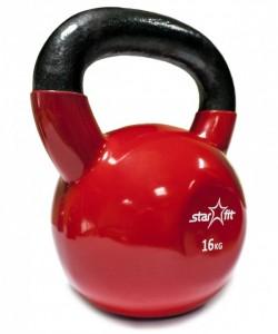 Гиря виниловая STARFIT DB-401, красная, 16 кг