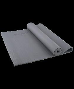 Коврик для йоги STARFIT FM-101, PVC, 173x61x0,5 см, серый