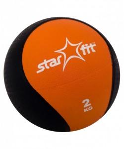 Медбол PRO STARFIT GB-702, 2 кг, оранжевый