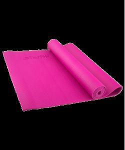Коврик для йоги STARFIT FM-101, PVC, 173x61x0,5 см, розовый