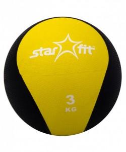 Медбол PRO STARFIT GB-702, 3 кг, желтый