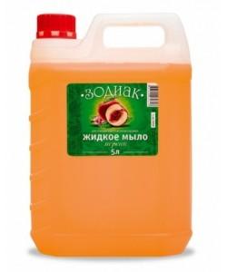 Жидкое мыло ЗОДИАК  в большой 5 литровой канистре (Персик)