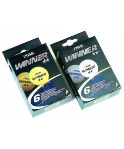Мяч для настольного тенниса Winner 2* оранжевый, 6 шт.