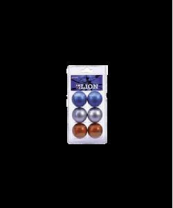 Мяч для настольного тенниса Clossy, металлик, 3 цвета, 6 шт.